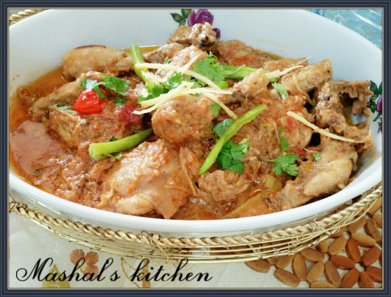 Cheesy Chicken Handi Masala Mashal S Kitchen